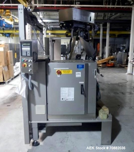 Used- Pester Robotic Palletizer, Model PEWO-FORM PAL6. Rated speeds up to 15 packs/minute, with Kuka 5 axis robot, type KRC1...