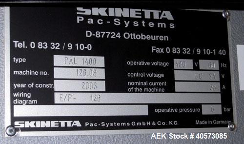 Used- Skinetta Pac-Systems PAL 1400 Automatic Palletizer