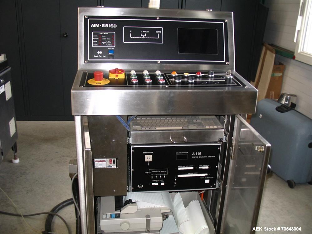 Used-Stainless Steel Eisai AIM 581 SD Electronic Vial Inspection Machine