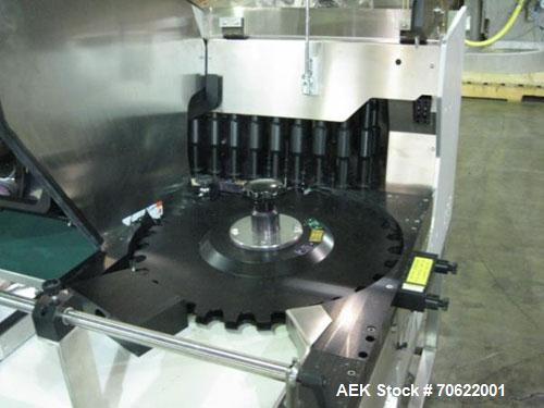 Used- Seidenader Inspection Unit, Model V90-AVSB/60-RL. Designed to inspect ampules, vials, syringes, bottles and tubes, 0.5...
