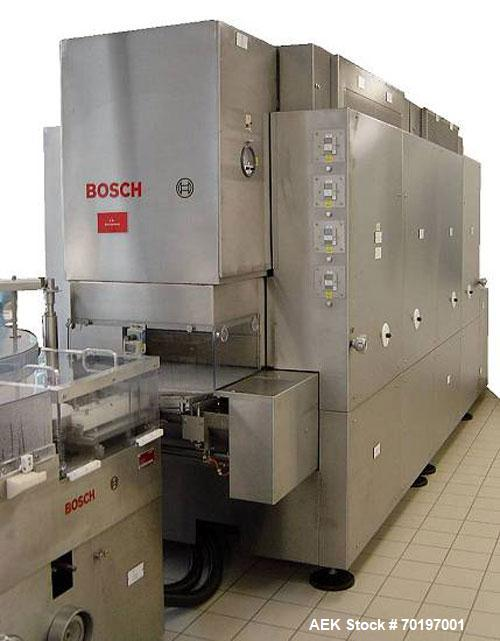 Used-Bosch RRU 3100 HGL 3820 Washer/Sterilizing Tunnel for carpules, comprised of (1) Bosch RRU 3100 washer and (1) Bosch HQ...