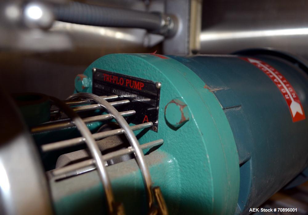 Used- Stainless Steel IWM Vial Stopper Washing Machine. Sanitary stopper washing