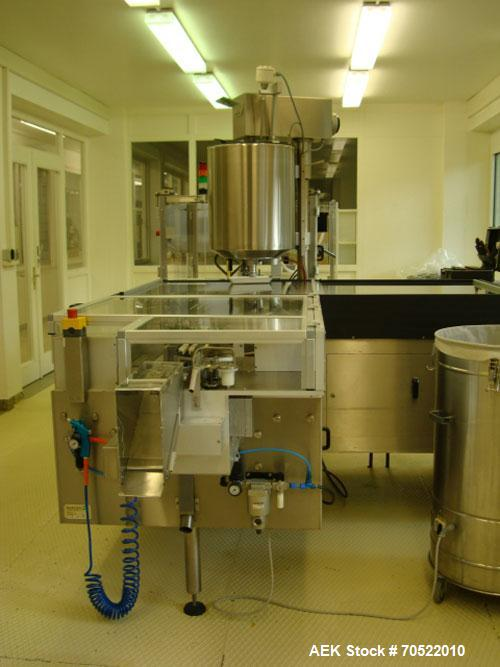 Used-Sarong SAAS 6 AP/VP Suppositories Forming, Filling and Closing Machine for PVC/PVCDC/PE and other thermoforming materia...