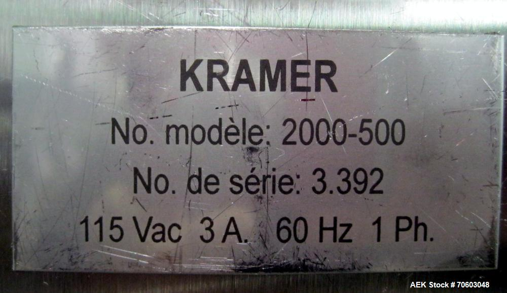 Used- Kramer Model E80 Deduster