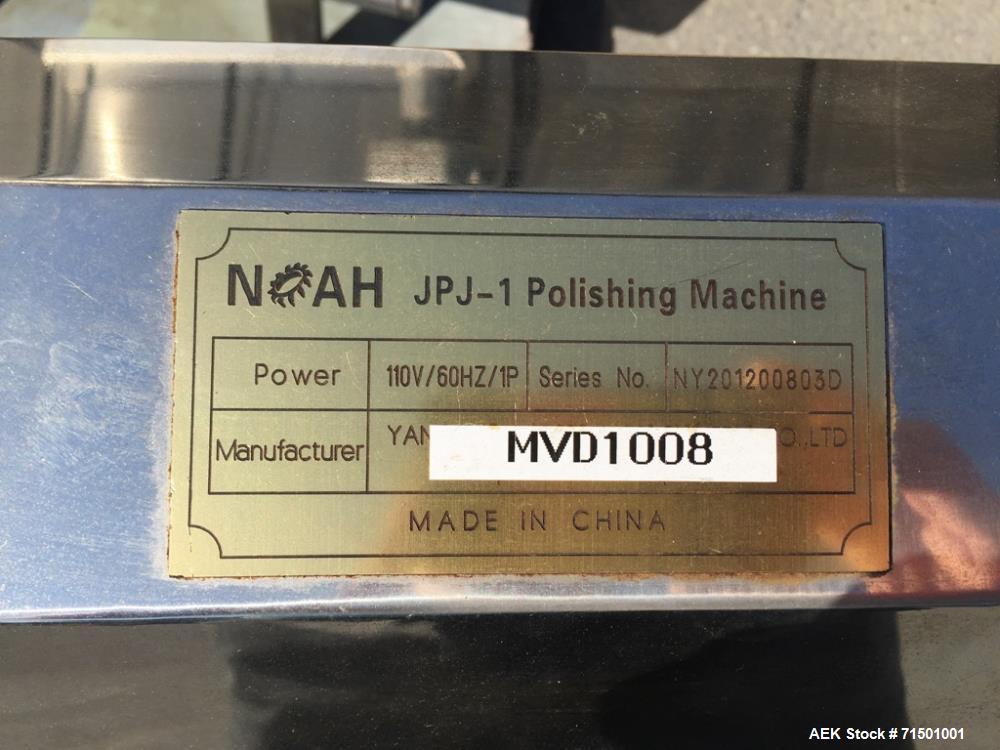 Used- Noah Model JPJ-1 Capsule Polisher