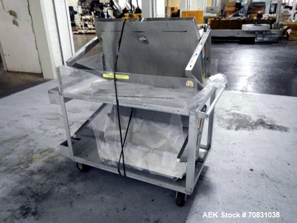 """Used- Ackely Tablet Sorter, Stainless Steel Construciton. Gravity feed with 14"""" x 34"""" wide sorting table, serial# 199, new 1..."""