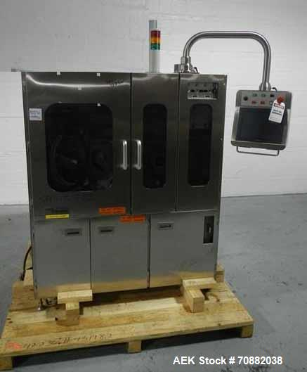Used- GEA Daiichi Viswill Tablet Video Inspection System, Model TVIS-EX3. Rated to speeds of 350,000 tablets/hr through put,...