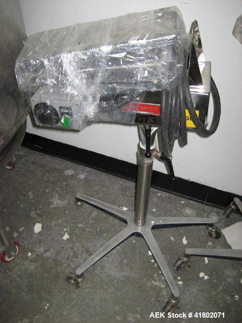 Used- Key International Tablet Deduster, Model TD-101, 304 Stainless Steel. Air volume 1 to 2 cfm, vacuum 20 to 30 cfm. 115 ...