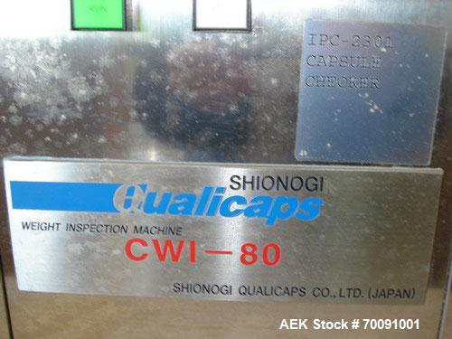 Unused-Shinogi Qualicaps Capsule Checkweigher, Model CWI-80.This machine is recent vintage and currently supported by Qualic...