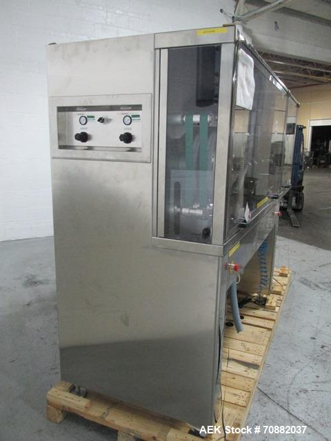Used- Proditec Visitab2 tablet inspection system, rated up to 300,000 tablets per hour, designed to handle multiple shaped t...
