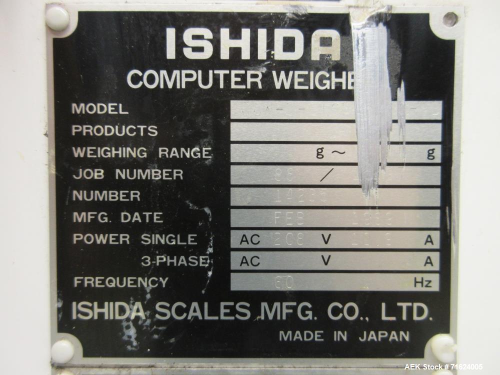 Used- Ishida Model CCW-EZ-216 / 30 16 Head Smooth Bucket Combination Scale