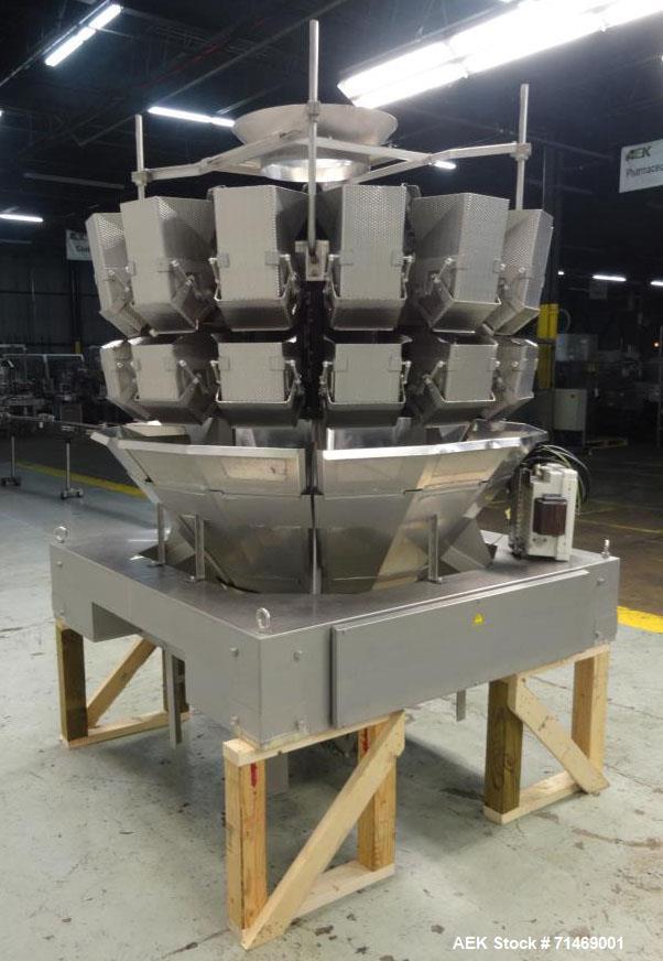 Used- Ishida Model CCW-RZ-214W-S/60-WP Dimpled Bucket 14 Head Combination Scale