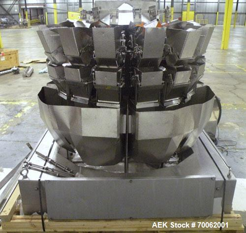 Used- Ishida 16 Head Multi-Purpose Weigher, Model CCW-Z-216B-D/30-WP, Stainless Steel Contact Parts. Designed for different ...