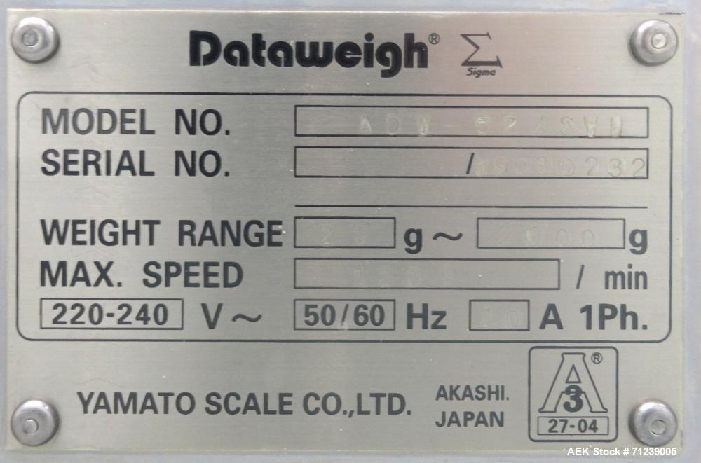 Used- Yamato Scale Co Model Dataweigh ADW-524SWU Sigma Series Combination Scale