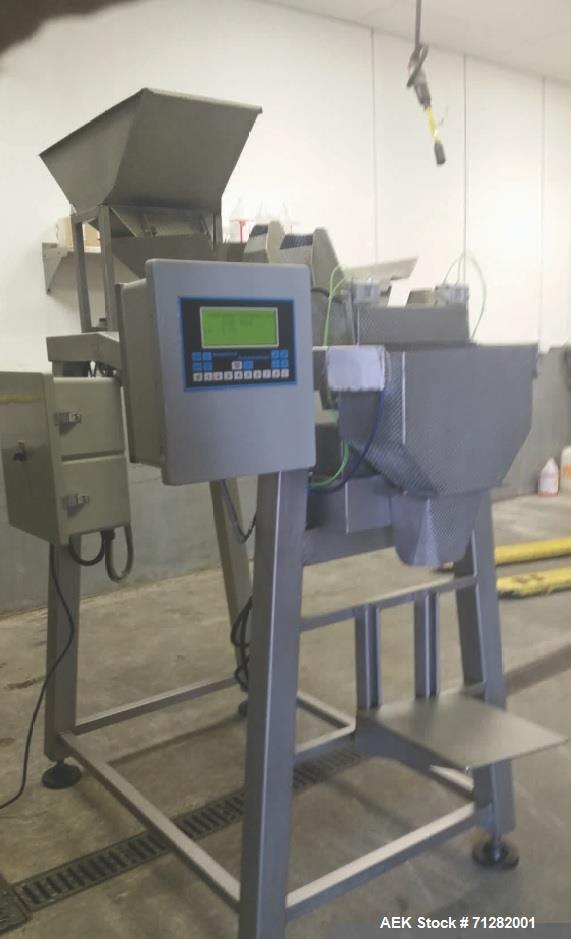 Used- Inspired Automation Packaging Systems Weigh Fill Machine. Syntron Magnetic Feeder - Model F-010-B. Manufactured 2001.
