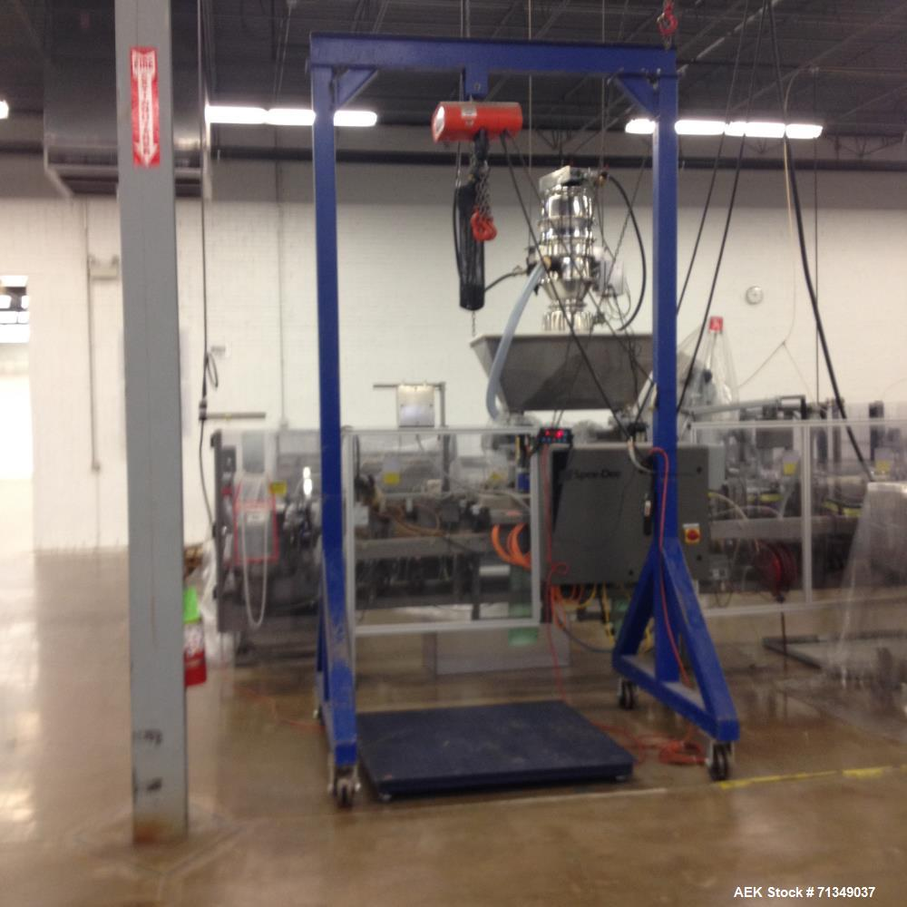 Used-carbon steel a frame film hoist, 2000 lb chain falls.