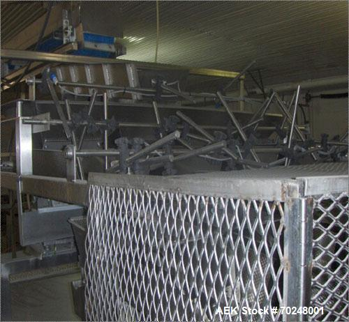 Used- Ohlson Weigh Scale System, Model 4M2-PIV. 4 Head, dimpled trays. Built in 2007, weight capacity is 6 lbs per pan. Elec...
