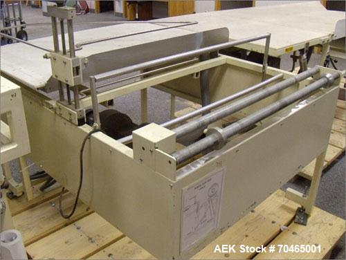 "Used-Chase USA Inc Semi-Auto L-Bar Sealer, 30"" x 48"", Model 30x48E/HK. Hot knife set up, film unwind (powered), staging tabl..."