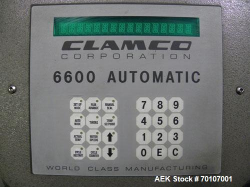 Used- Clamco Automatic L-Bar Sealer, Model 6650. Can perform at speeds of up to 35 packages per minute. 6600 Series shrink w...