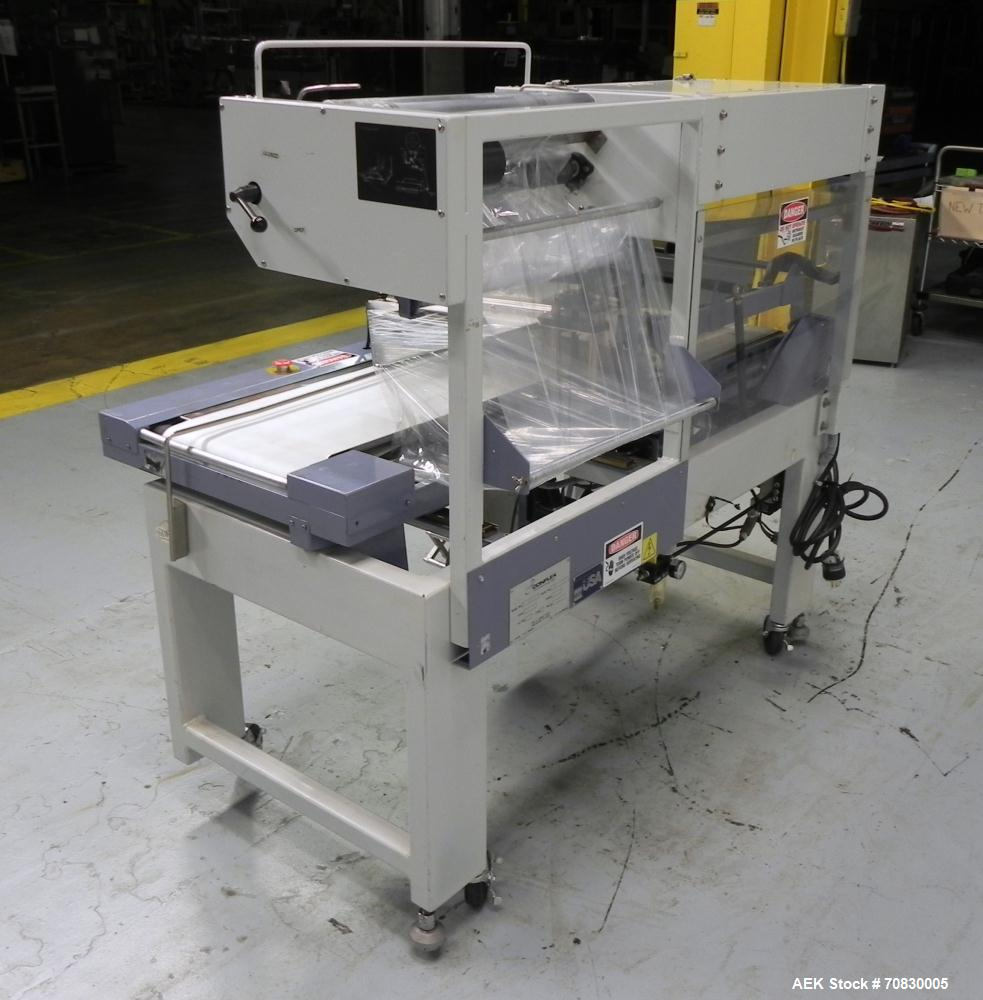 Used- Conflex Model E-250 HS Automatic L Bar Sealer and Shrink Wrapper. The model E-250 HS is capable of speeds up to 35 pac...
