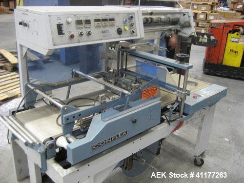 Used- Conflex Automatic L Bar Sealer and Shrink Wrapper, Model E-250AC
