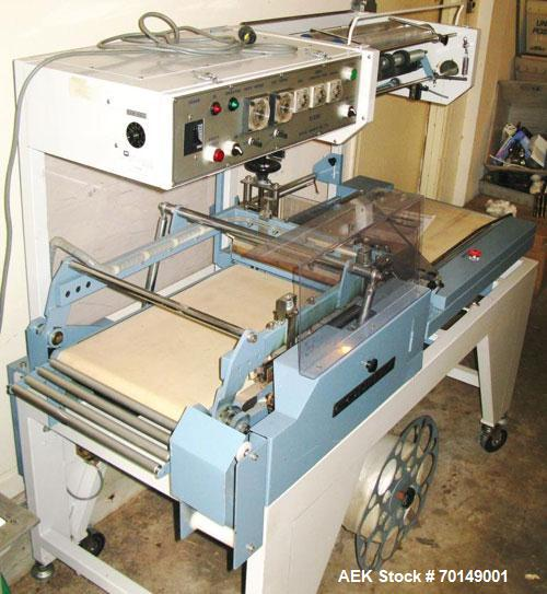 """Used-Conflex Automatic L Bar Sealer and Shrink Wrapper, model E-250AC. Capable of speeds up to 35 ppm. Seal bar is 10"""" wide ..."""