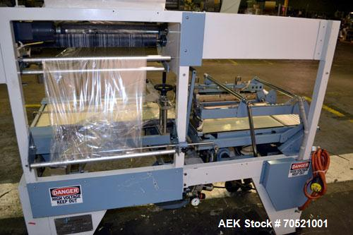 Used- Conflex Model E-250C Automatic L Bar Sealer and Shrink Wrapper. Capable of speeds up to 35 packages per minute. Seal b...