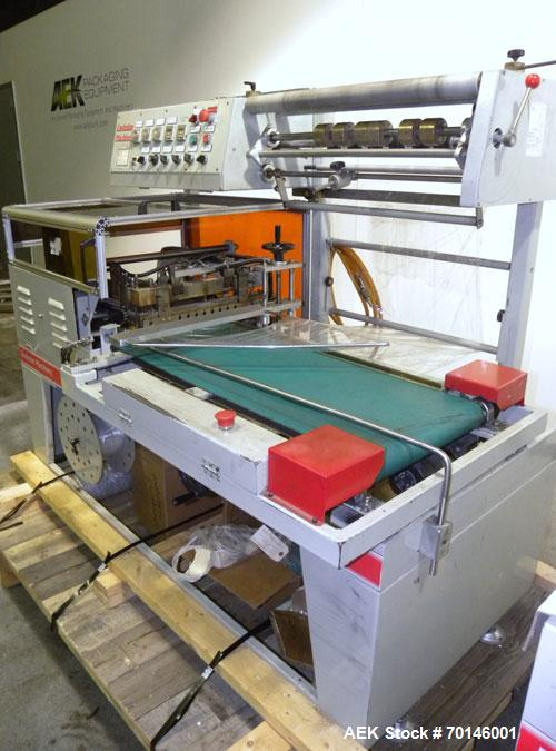 Used- Evolution Machinery Automatic L-Bar Sealer and Shrink Tunnel