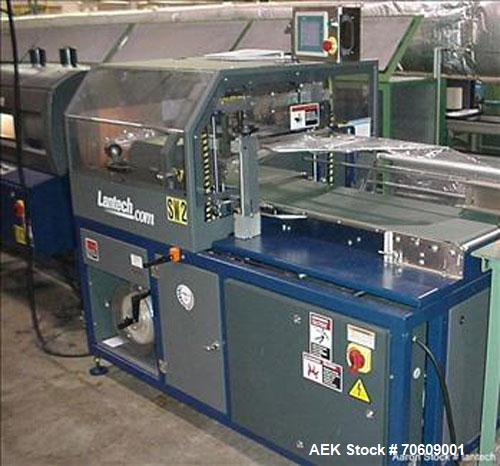 Used-Lantech Model SW1000 Automatic L-Bar Sealer with side seal.  Capable of speeds up to 40 packages per minute.  Package s...