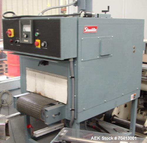 Used- Shanklin Model A26A Automatic L-Bar Sealer. Machine is capable of speeds up to 35 packages per minute. Has hot knife s...