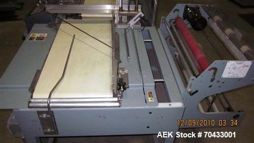 Used- Shanklin Automatic L Bar Sealer, Model A26A. Capable of speeds up to 35 packages per minute. Has hot knife seal and a ...