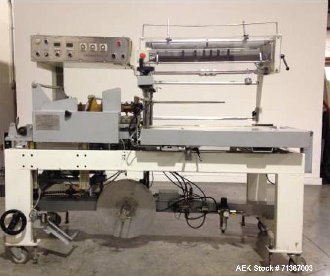 "Used- Texwrap Wrapper Automatic L-Sealer, Model 2218. Seal area: 16"" wide x 22"" long. Hot knife seal bar, closing conveyor f..."