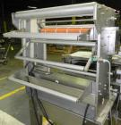 Used- Weldotron 5962 Stainless Steel Automatic L-bar Sealer capable of speeds up to 25 packages per minute. Has an 18