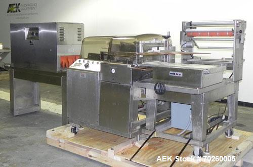 "Used- Weldotron 5962 Stainless Steel Automatic L-bar Sealer capable of speeds up to 25 packages per minute. Has an 18"" wide ..."