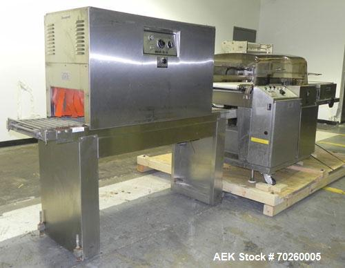 """Used- Weldotron 5962 Stainless Steel Automatic L-bar Sealer capable of speeds up to 25 packages per minute. Has an 18"""" wide ..."""