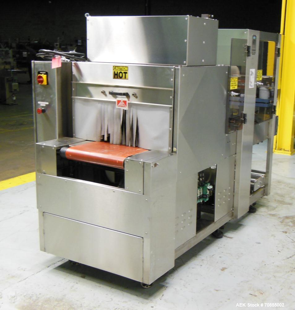 Used- API Model DuraTech 2000-S-PH Pharmaceutical Shrink Bundler. Machine is capable of speeds up to 100 bottles/packages pe...