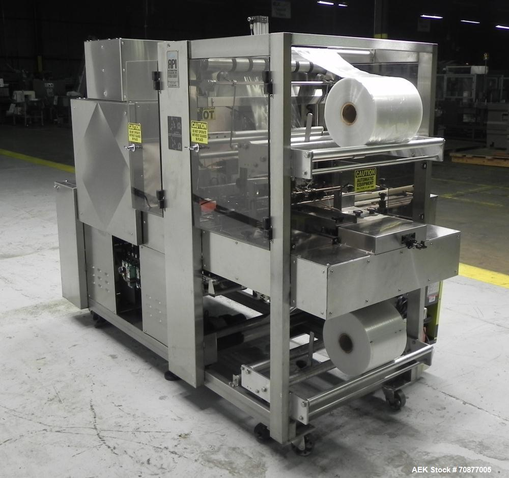 Used- API (Lantech) Model DuraTech 2000-S-PH Pharmaceutical Shrink Bundler. Machine is capable of speeds up to 100 bottles/p...