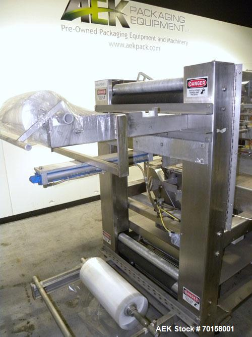 Used- Arpac Model 108-28SS Automatic Right Angle Stainless Steel Shrink Bundler. Capable of speeds up to 30 bundles per minu...