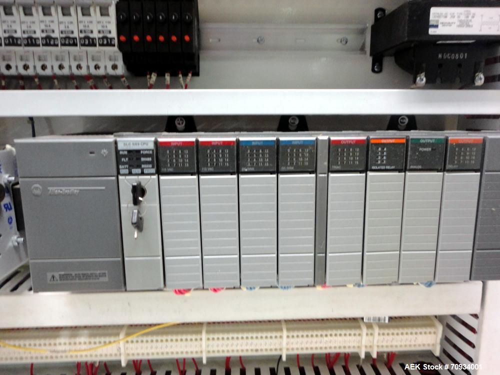 Used- Arpac Brandpac Model BPMP-5342 Automatic Single Roll Shrink Bundler, for Print Registered Film.  Capable of Unsupporte...