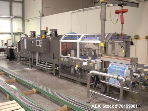 Used-Arpac BPTW-5202W Registered Film Shrink Bundler. Capable of running speeds from 50 to 50 trays per minute. Continuous m...