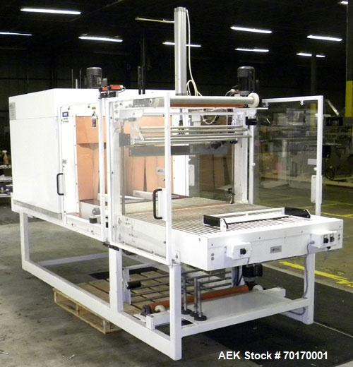 Used- EDL Packaging Engineers Model 32-20-45 Semi Automatic Inline Shrink Bundler & Tunnel Machine. Capable of speeds up to ...