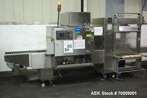Used- Poly Pack Shrink Wrap Machine with heat tunnel and conveyor, model FIL-16-32C