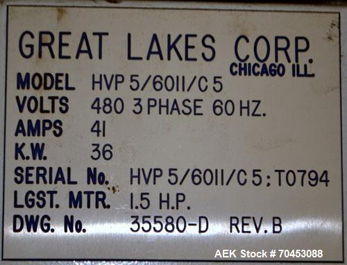 Used- Great Lakes 1748 Shrink Bundler with model HVP 5/60/11 shrink tunnel
