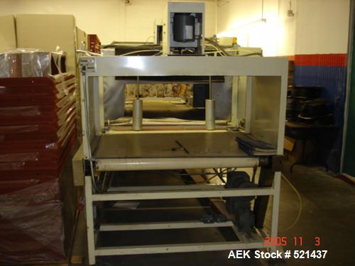 USED: Great Lakes shrink wrap machine, model HVP5/6011/C5 and 1648. Unit comes with infeed conveyor, 2 roll (top and bottom)...