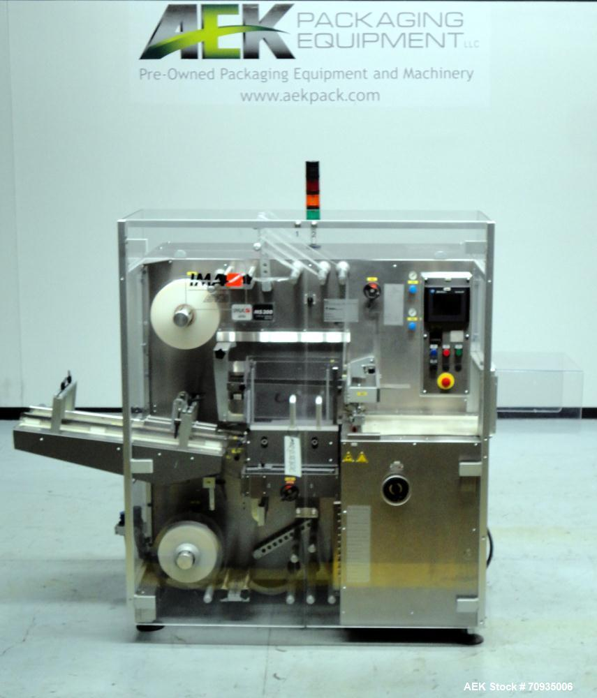 Used- IMA BFB MS300 Shrink Bundler or stretch banding machine for carton multi-packing. Capable of speeds up to 40 bundles p...