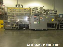 Used- KHS Kister, Model 601P, Shrink Wrap Bundler with 24 in. x 10 ft. x 15 in. High Shrink Tunnel. Has Allen-Bradley Panelv...
