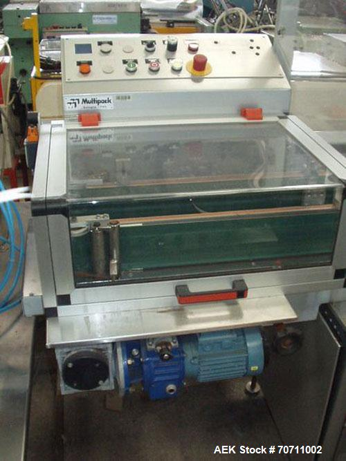 Used-Multi-Pack Stretch Bander, Model F-40.  Complete with belt type carton infeed, 30 mm sealing bar, and a maximum height ...