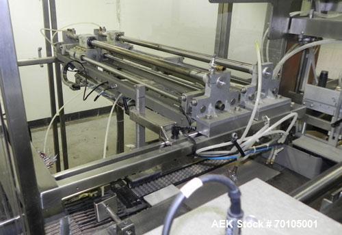 Used- Omega Design Model DL-27 Dual Lane Multi-Pack Shrink Bundler. All stainless steel construction with Lexan type interlo...