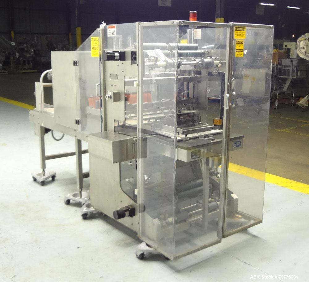 Used- Omega Design Model DL-27 Dual Lane Shrink Bundler. All Stainless Steel constriction. Capable of speeds from 10-40 (20 ...