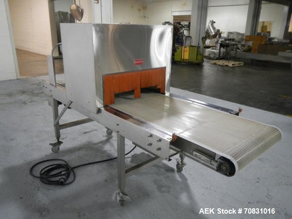 Used- Stainless Steel Omega Design Model DL-36 Dual Lane High Speed Shrink Bundl